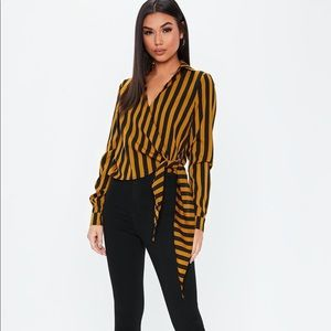 MISSGUIDED Tie to the Side blouse